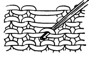 Riprendere le maglie all'uncinetto sul dritto