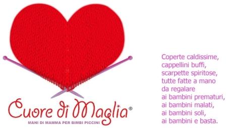 Il logo dell'Associazione Cuore di Maglia