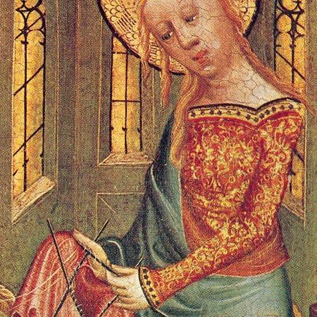 """La """"Knitting Madonna""""."""