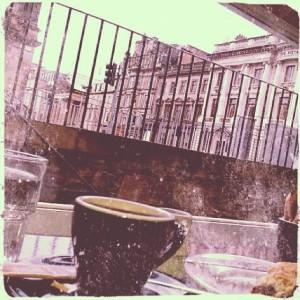 Colazione a Edimburgo, tre anni fa.