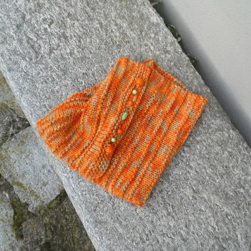 Il collo a maglia rasata e legaccio che sarà proposto durante il corso a Genova