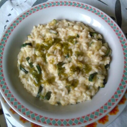 Risotto zucchine e pesto