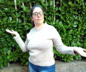 Un maglione top down simile a quello che gli allievi del coros potrebbero imparare ad eseguire