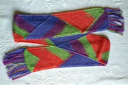 La sciarpa a triangoli
