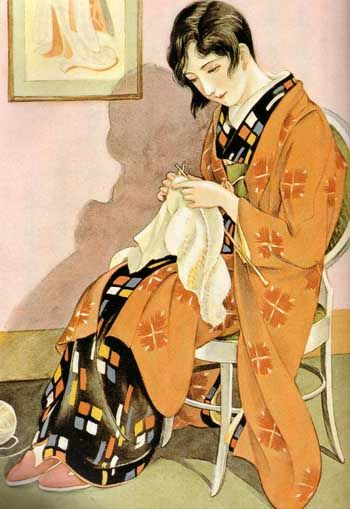 "Kashō homemaker (December 1930, ""Girls' Illustrated"")"