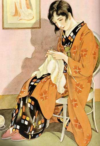"""Kashō homemaker (December 1930, """"Girls' Illustrated"""")"""