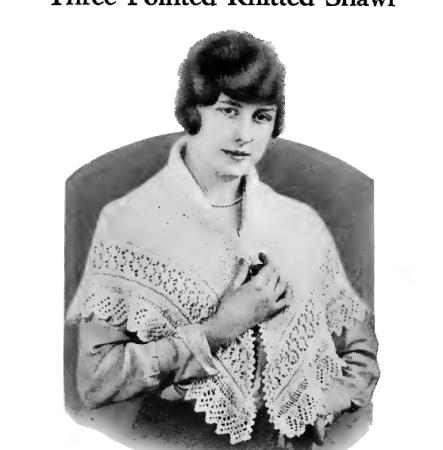 L'illustrazione originale del 1916 per questo scialle triangolare