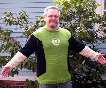 Con le istruzioni di Ann Budd potrete crare quasiasi maglione vogliate, anche quello di Lanterna Verde